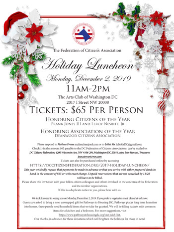 2019 Holiday Luncheon Flyer