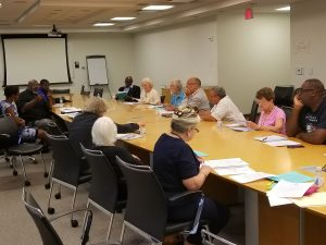 June 2017 - Federation Meeting with Stephen Hansen, Committee of 100; Philip Pannell, Anacostia Coordinating Council; Dexter Williams, DC Fair Elections