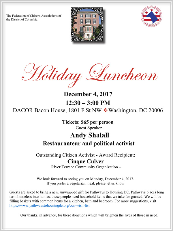2017 Holiday Lunch Flyer